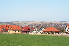 Landscape of houses in Cracow, Poland royalty free stock photo