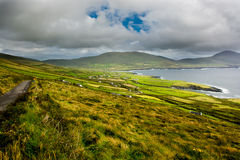 Landscape with Houses in Ireland Stock Photos