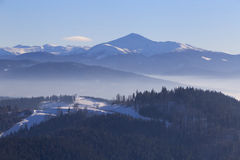 Landscape with Hoverla mountain Stock Photos