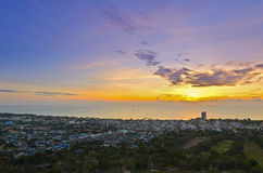 Landscape Hua Hin city at sunrise Royalty Free Stock Images