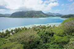 Landscape Huahine island French Polynesia Royalty Free Stock Photo