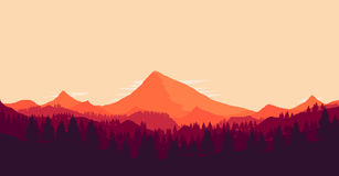 Landscape with huge mountains Royalty Free Stock Photography