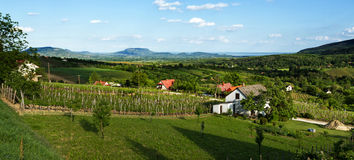 Landscape from Hungary. From above Royalty Free Stock Images