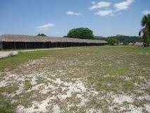 Parque Nacional Gran Sabana Choza de techo de Palma stock images