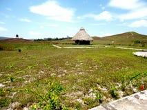 Parque Nacional Gran Sabana Choza de techo de Palma Stock Image