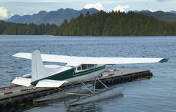 Landscape with hydroplane in Nanaimo. Vancouver. Canada Royalty Free Stock Photos