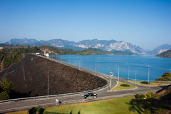 Landscape of hydropower  dam Stock Image