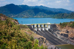 Landscape of hydropower  dam Royalty Free Stock Photography