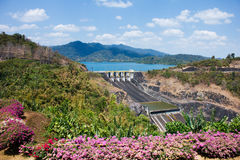 Landscape of hydropower  dam Royalty Free Stock Photo