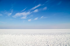 Landscape from ice and snow. Ice and snow on the IJsselmeer in the Netherlands Royalty Free Stock Photos