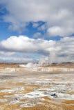 Landscape in iceland. Volcanic desert landscape in iceland interior Stock Images