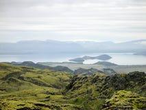 Landscape Iceland. Green Nature Landscape in Iceland Stock Image
