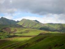 Landscape Iceland. Green Nature Landscape in Iceland Stock Images