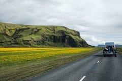 Landscape Iceland street Motorcross MX Adventure Royalty Free Stock Photography
