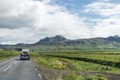 Landscape Iceland street Motorcross MX Adventure Stock Photography