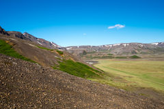 Landscape in Iceland. A typical volcanic landscape in Iceland on a sunny day Stock Image