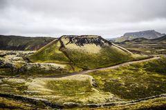 Landscape of Icelandic mountains on the way to Landmannalaugar. Landscape of Icelandic mountains on the way to Landmannalaugar Stock Image