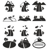 Landscape icon set Stock Photography