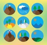 Landscape icon set Royalty Free Stock Image