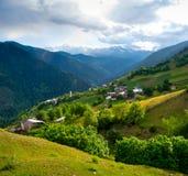 Landscape of Ieli village in Svaneti Royalty Free Stock Photos