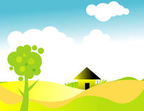 Landscape illustration. Ai file also available Stock Image