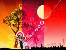 Landscape illustration Stock Photo