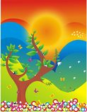Landscape illustration Royalty Free Stock Photos