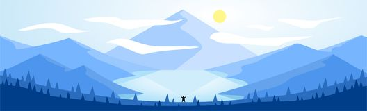 Landscape Illustration during Daytime stock illustration