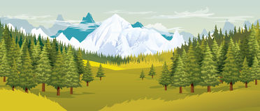 Landscape illustration Royalty Free Stock Photos