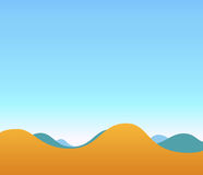 Landscape Illustration of Hills and blue sky. Vector Image Stock Photography