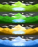 Landscape Illustration during Night Time vector illustration