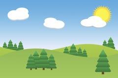 Landscape  illustration Stock Photos