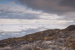Landscape in Ilulissat royalty free stock photos