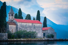 Landscape with the image of Adriatic sea and mountains Stock Image