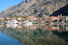 Landscape with the image of Bay of Kotor Royalty Free Stock Photo