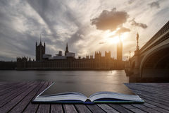 Landscape image of Big Ben and Houses of Parliament in Westminst Stock Photo