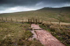 Landscape image of Corn Du peak in Brecon Beacons mountain range Royalty Free Stock Photography