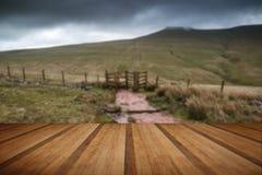 Landscape image of Corn Du peak in Brecon Beacons mountain range Royalty Free Stock Photography