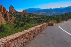 Landscape Image of the Garden of the Gods. Stock Photo