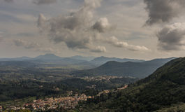 Landscape image of Northern Corfu, Greece.  Royalty Free Stock Photography