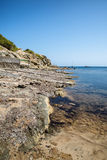 Landscape image of old Mediteranean fishing village in Ibiza Royalty Free Stock Photography