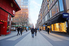 Landscape with the image of Old Town street in Stockholm, Sweden Royalty Free Stock Photos