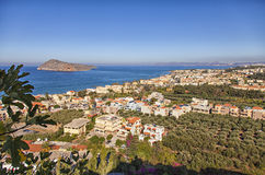 Birds eye view of Crete Greece Stock Images