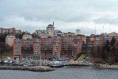 Landscape with the image of Stockholm Stock Images