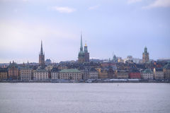 Landscape with the image of Stockholm Royalty Free Stock Images