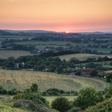 Landscape image Summer sunset view over English countryside Stock Image
