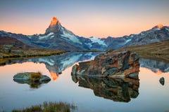 Matterhorn, Swiss Alps. stock photography
