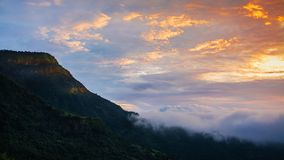 Landscape image  view of   fog  and Mountain ,Thailand Stock Photos