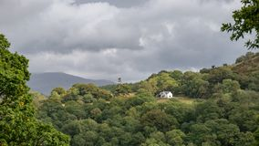 Landscape image of view from Precipice Walk in Snowdonia overloo royalty free stock photo