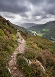 Landscape image of view from Precipice Walk in Snowdonia overloo royalty free stock photography